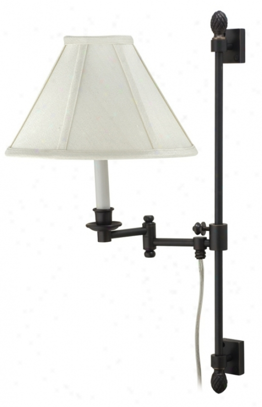 House Of Troy Oil Rubbed Bronze Swing Arm Library Wall Lamp (p4342)