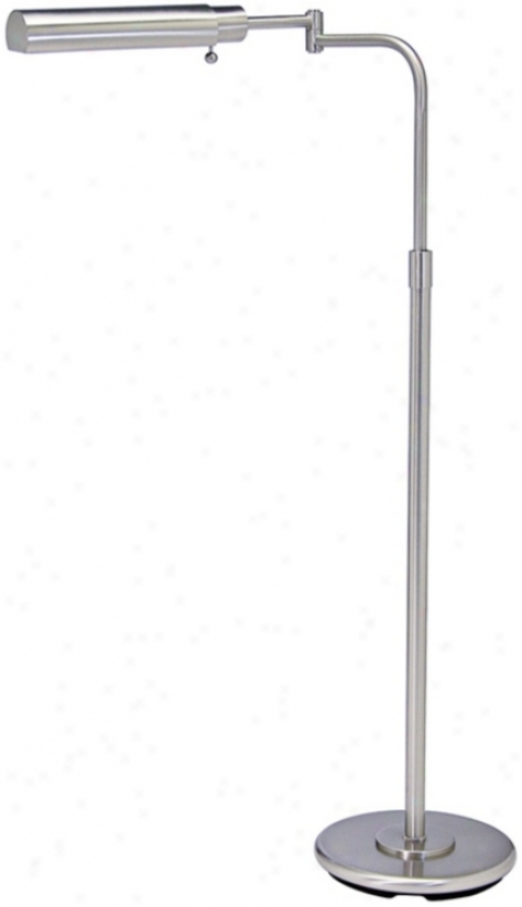 House Of Troy Swing Arm Pharmacy Satin Nickel Floor Lamp (78058)