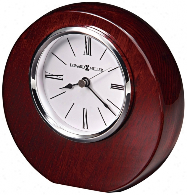 "Howard Miler Adonis 5 3/4"" High Tabletop Clock (r5060)"