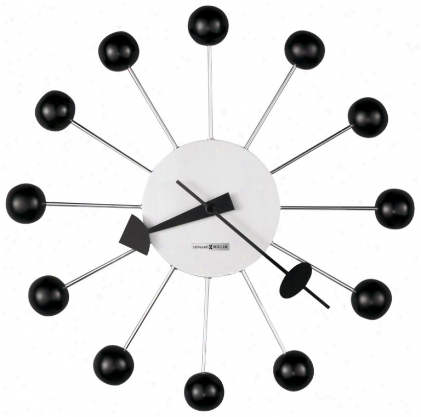"Howard Miller Ball 14"" Wide Wall Clock (m8797)"