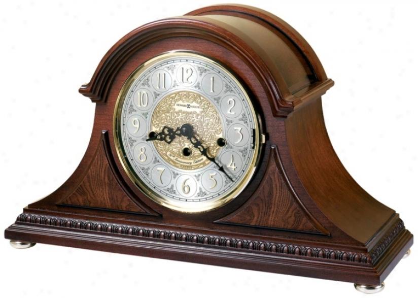 """Howard Miller Barrett 17 1/2"""" Wide Tabletop Clock (r3953)"""