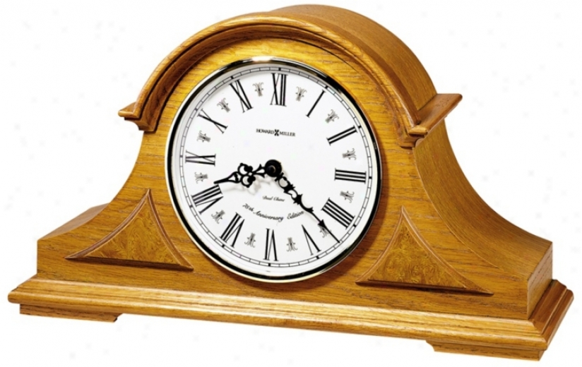 "Howard Miller Burton 17"" Wide Tabletop Clock (r3968)"