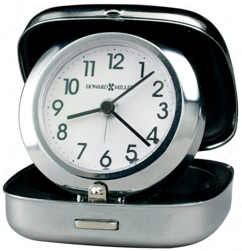 "Howard Miller Clam Shell 2 3/4"" High Travel Alarm Clock (r4999)"