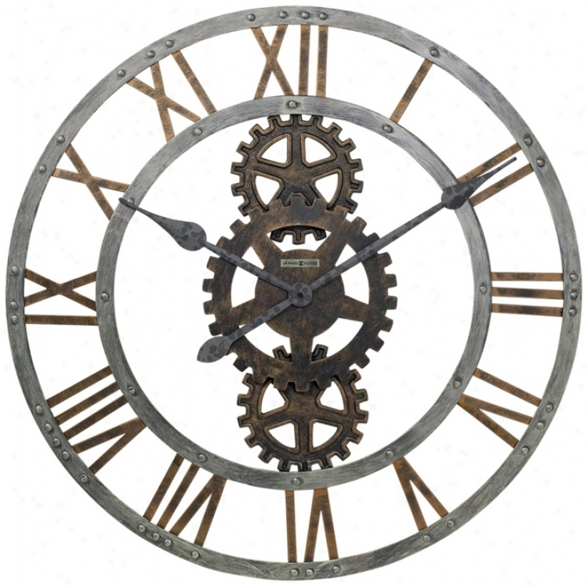"Howard Miller Crosby 30"" Wide Wall Clock (r1647)"