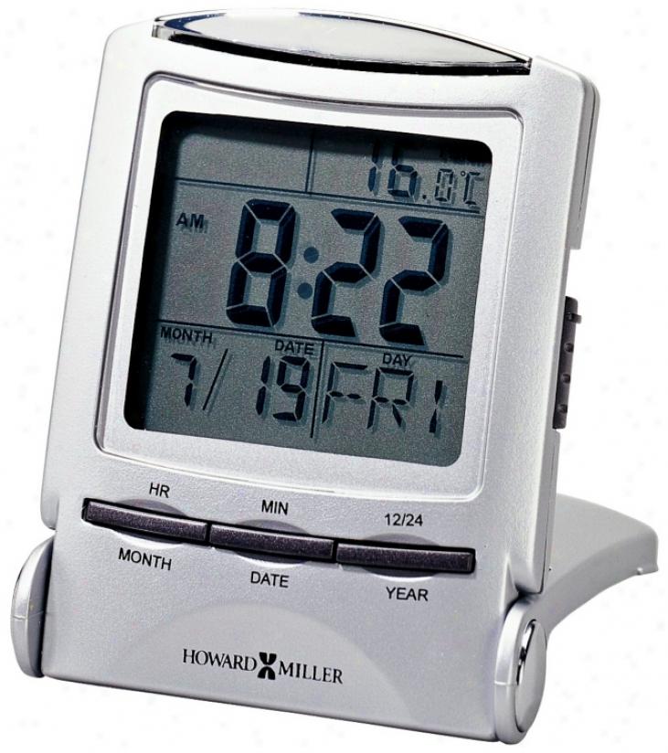 "Howard Miller Distant Time 3"" High Traveler Alarm Clock (r4948)"