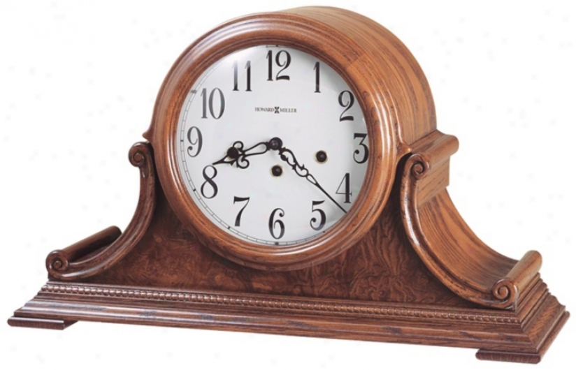 "Howard Miller Hadley 19"" Wide Tabletop Clock (3960)"