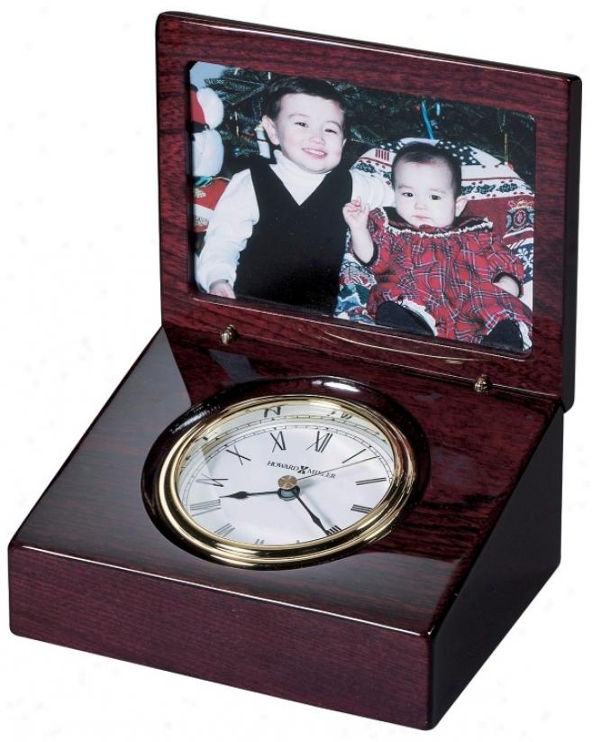 "Howard Miller Hayden Photo Frame 5 1/2"" Wide Table Clock (r4993)"