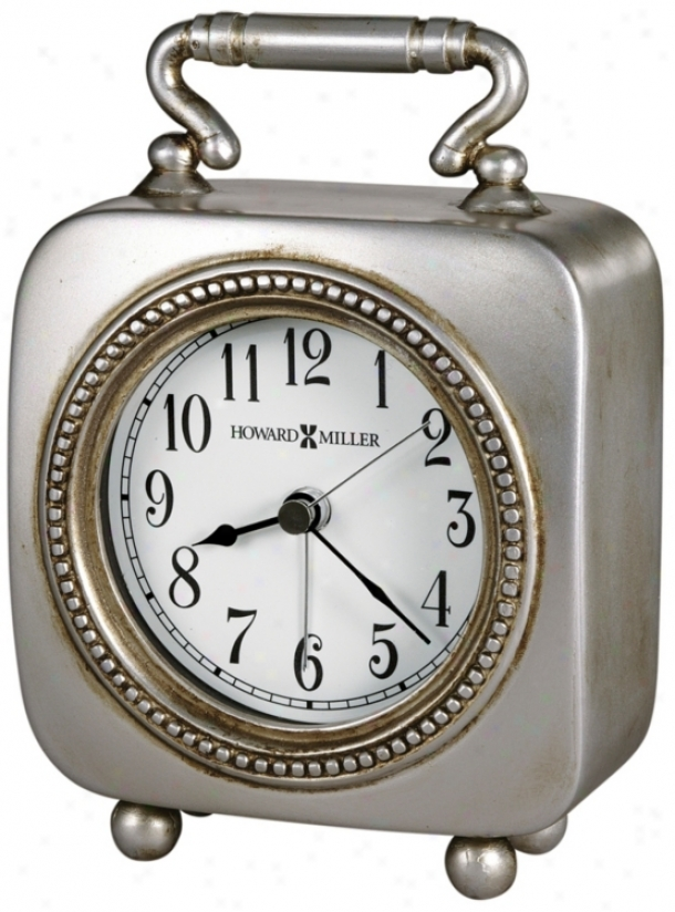 "Howard Miller Kegan 5 3/4"" High Alarm Clock (r5006)"