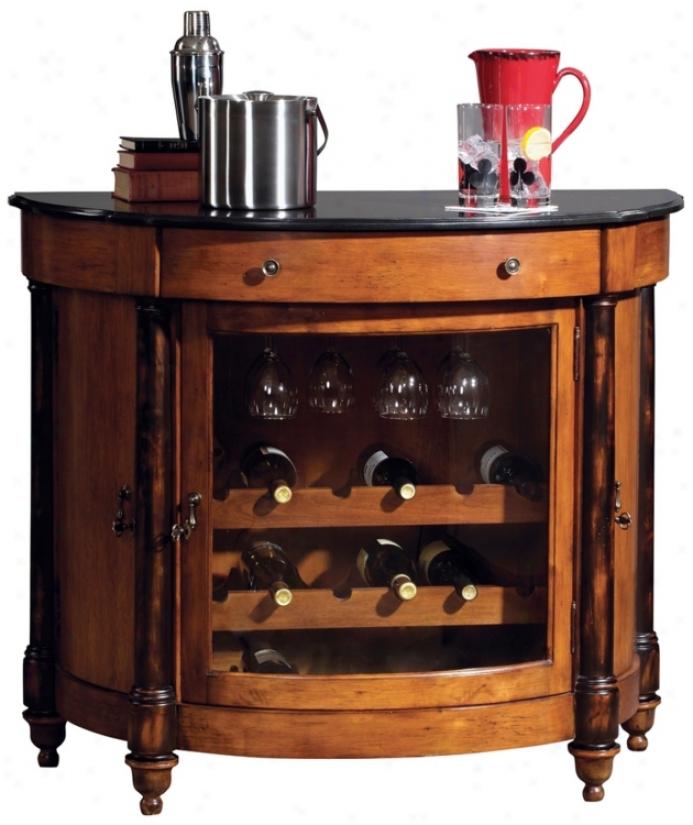 Hpward Miller Merlot Dale Demilune Bar Cabinet (r7972)