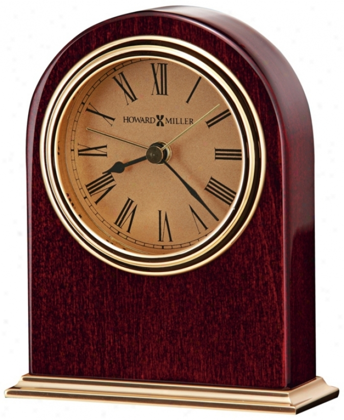 "Howard Miller Parnell 4 3/4"" High Table Alarm Clock (r4942)"