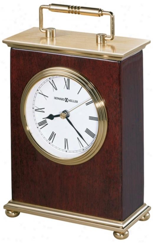 """Howard Miller Rosewood Bracket  8 1/4"""" High Tabletop Clock (r3934)"""