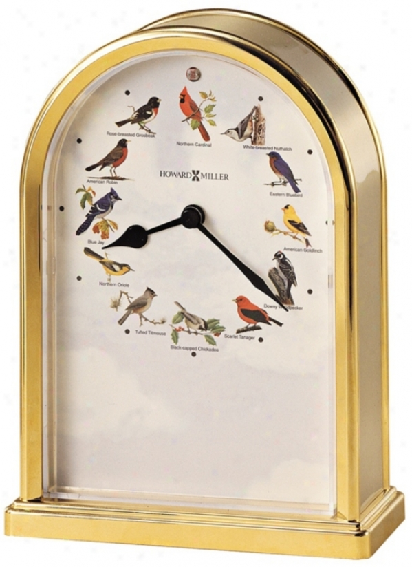 Howard Miller Songbirds Of North America Iii Tabletop Clock (r4958)