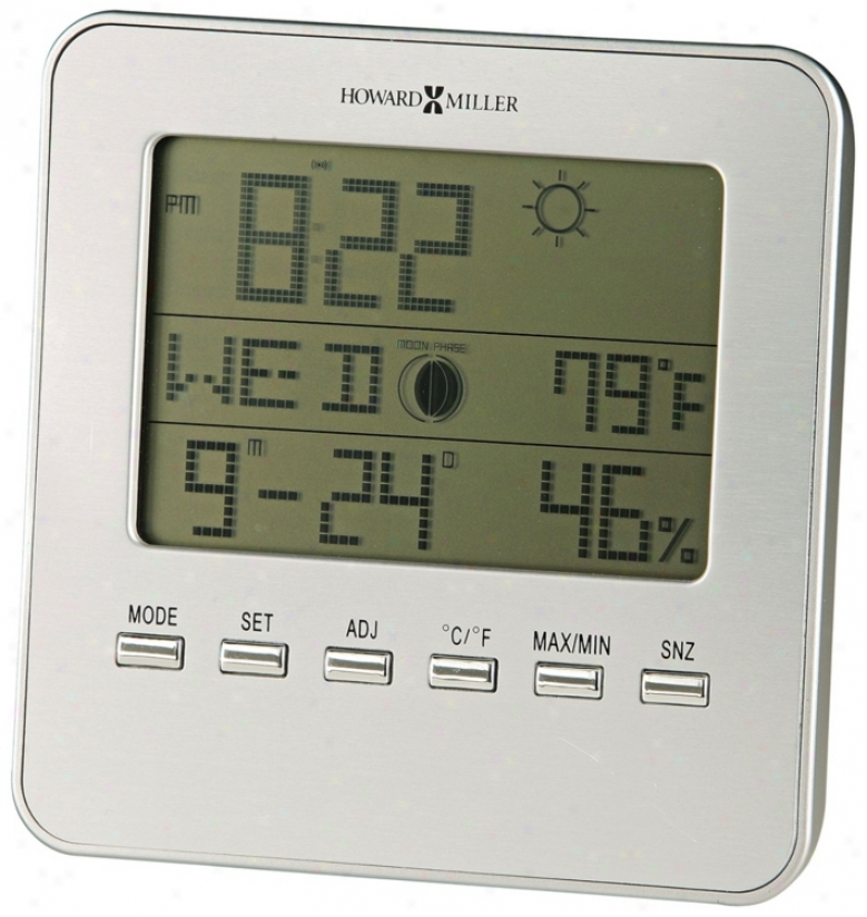 "Howard Miller Weather Sight 5"" High Alarm Clock (r5049)"