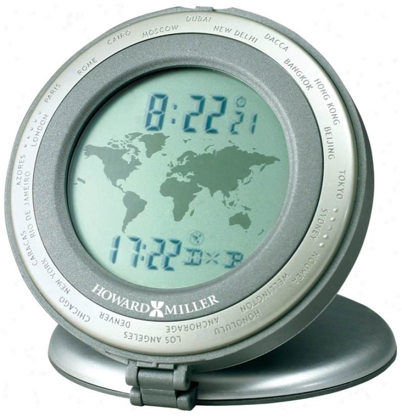 "Howard Miller World Travel 3 1/4"" High Alarm Clock (r4998)"