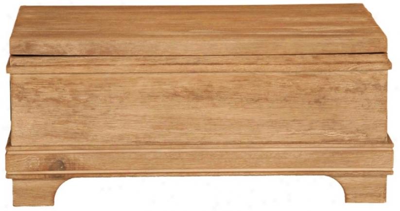 Hudson Small Stonewash Wood Nesting Trunk (v4691)