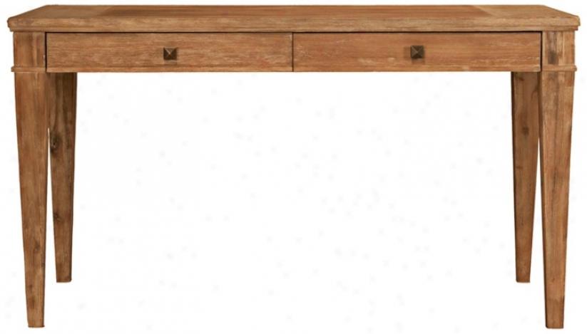 "Hudson Stone Wash Finish 30"" High Writing Desk (t5209)"