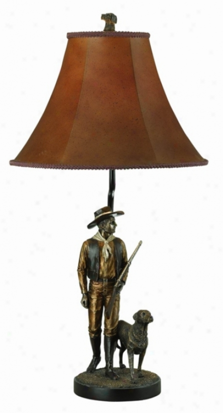 Hunting-horse And Dog Table Lamp (59241)