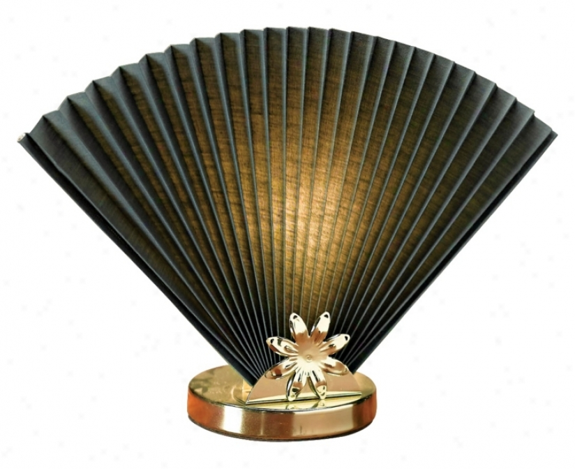 Hunter Green Fan Accent Lamp (m1599)