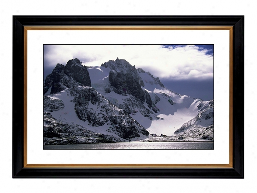 "Icy Mountain View Giclee 41 3/8"" Wide Wall Art (55273-80384)"