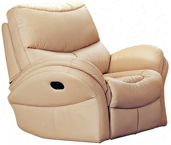 Idaho Taupe Leather Match Recliner Chair (t3754)