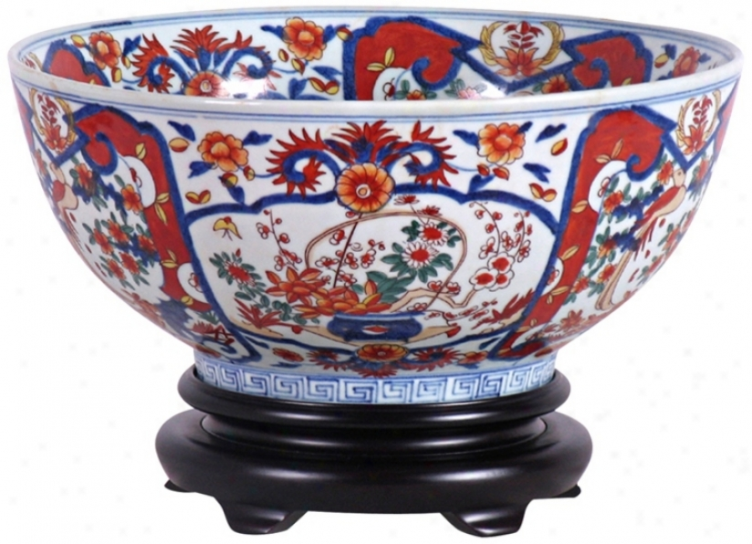 Imari Porcelain Bowl With Base (v2638)