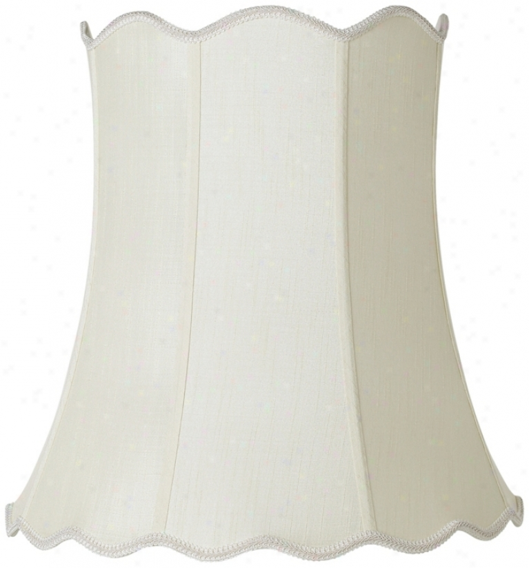 Imperial Creme Scallop Bell Lamp Shade 14x20x20 (spider) (r2703)