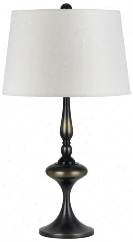 Imperial Metallic Bronze Metal Table Lamp (p6448)