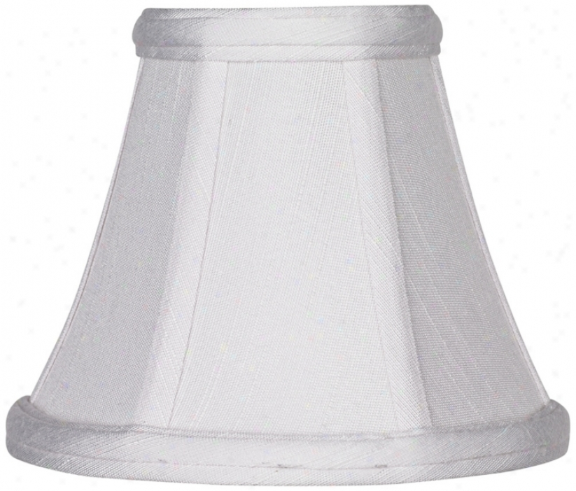 Imperial White Fabric Lamp Darkness 3x6x5 (clip-on) (t4409)