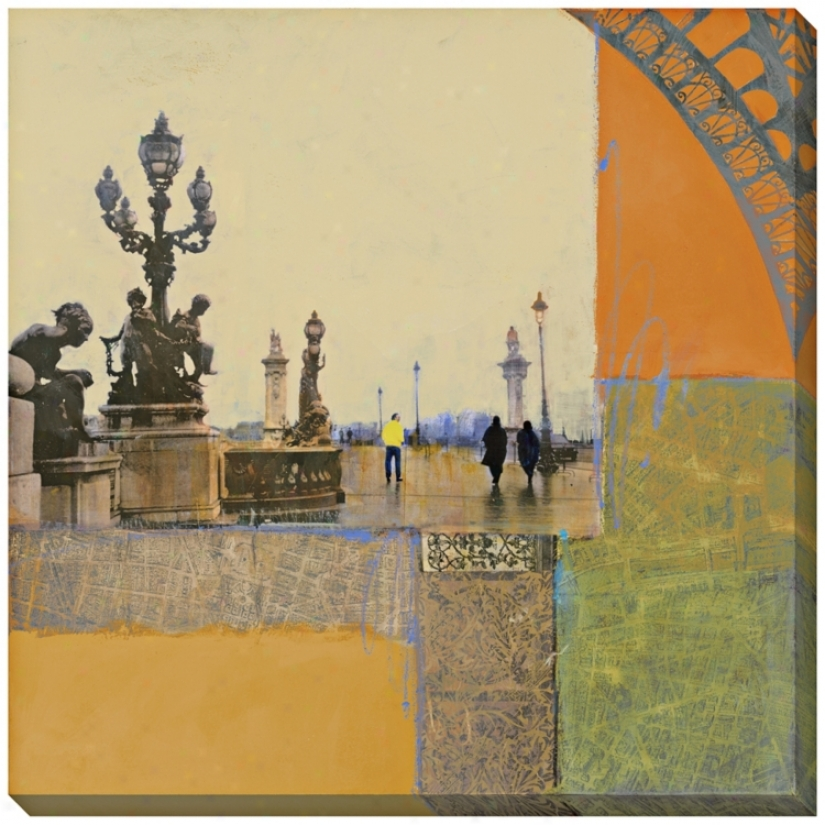"Impressions Of Paris Ii Giclee 40"" Square Wall Art (l0530)"