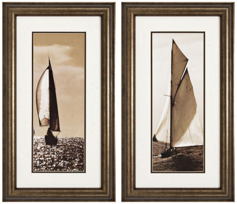 In The Lead And Ahoy Set Of 2 Prints Wall Art (k2665)