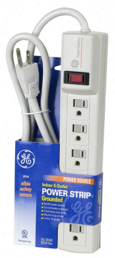 Indoor 6-outlet Grounded Power Strip (05663)