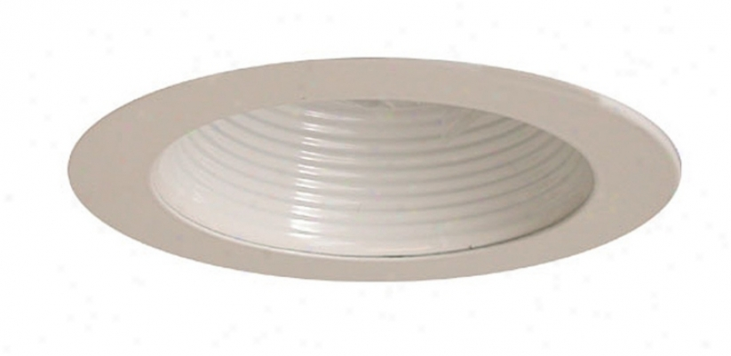 "Intense 4""-Low Voltage White Baffle Recessed Light Trim (80141)"