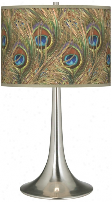 Rainbow-like Feather Gclee Trumpet Table Lamp (r1676-w4750)