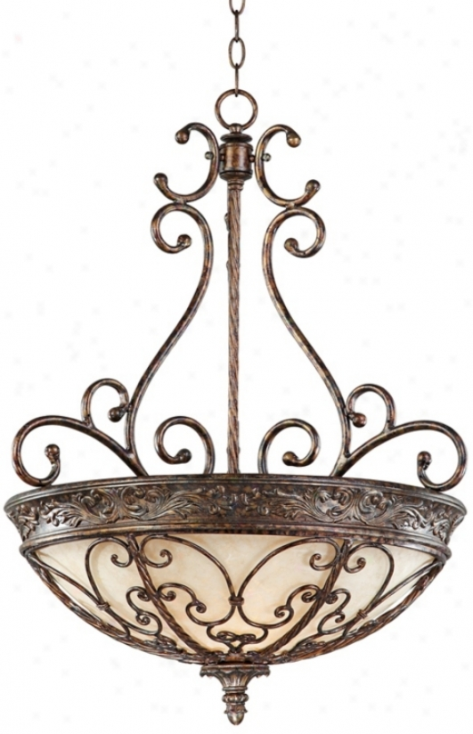 "Iron Gatte Collection 23 3/4"" Wide Pendant Chandelier (k6065)"