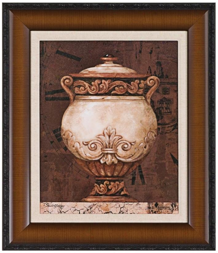 """Italian Urn 27"""" High Wall Art Print (j5874)"""