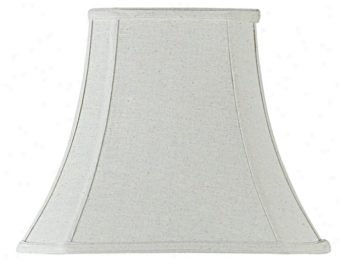 Ivroy Fabric Rectangle Lamp Shade 6x11x12 (spider) (26151)