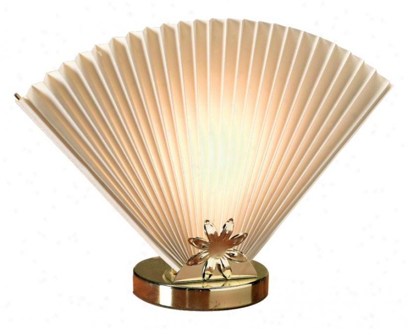 Ivory Fan Accent Lamp (m1596)