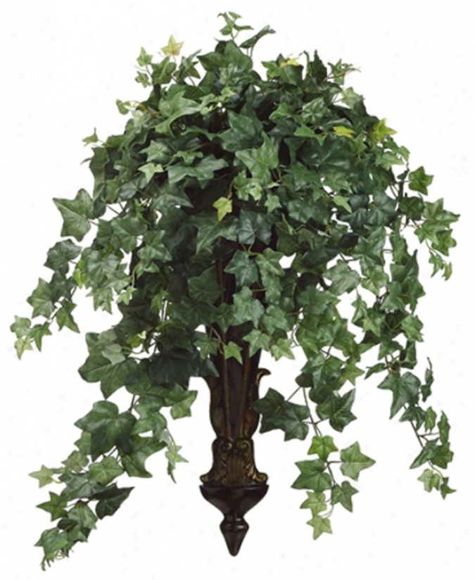Ivy In Long Resin Wall Sconce Faux Foliage (n6771)