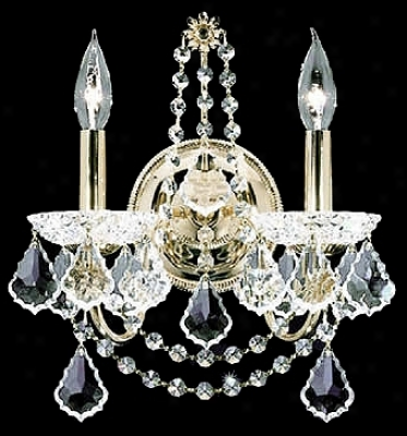 James R. Moder  Belle Wave Collection Crystal Wall Sconce (56505)