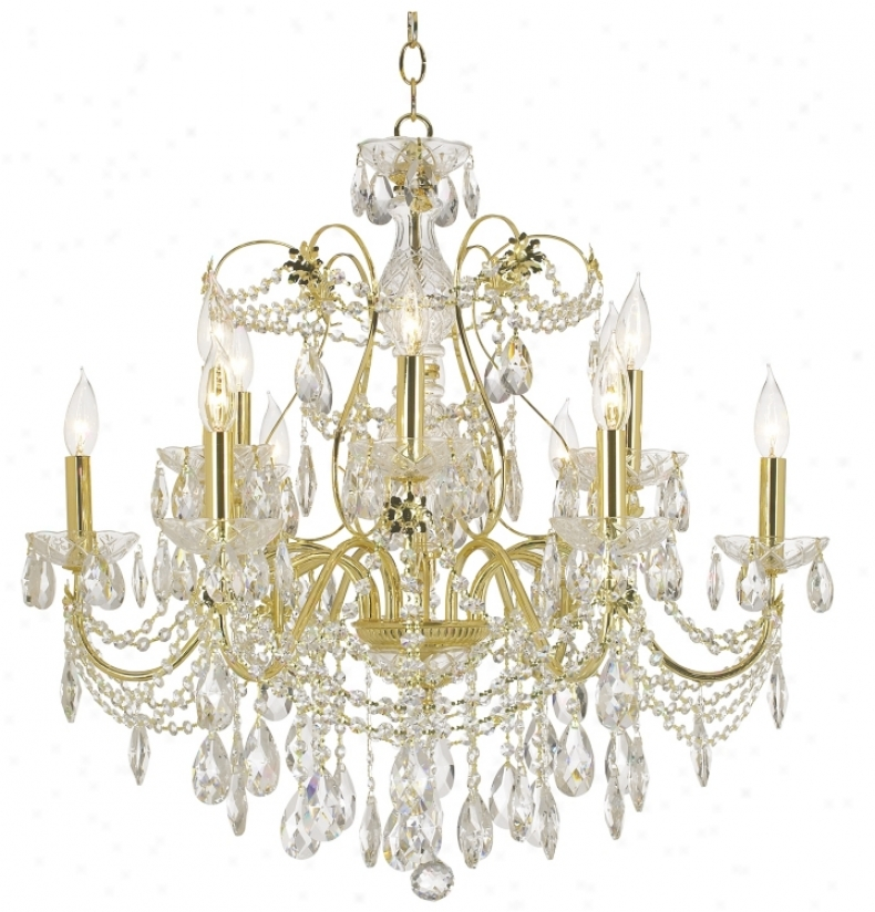 James R. Moder Belle Wave Twelve Light Chandelier (56500)