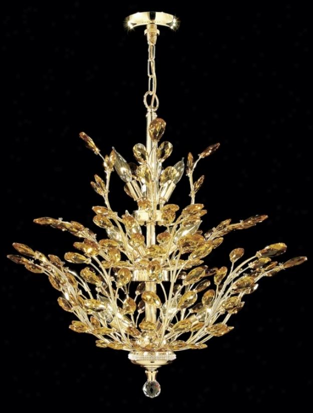 "James R. Moder Florale Collection Gold 27"" Wide Chandelier (21149)"
