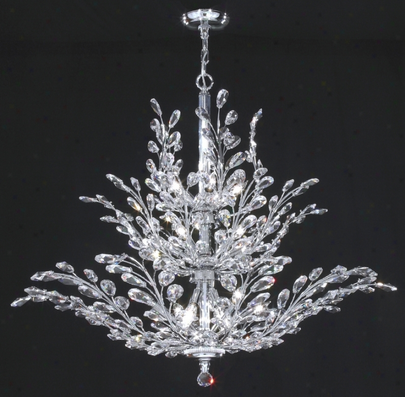 "James R. Moder Florale Collection Silver 41"" Wide Chandelier (15462)"
