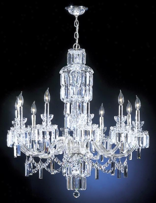 """James R Moder Grand Estate 33"""" Wide Large Crystal Chandelier (12770)"""