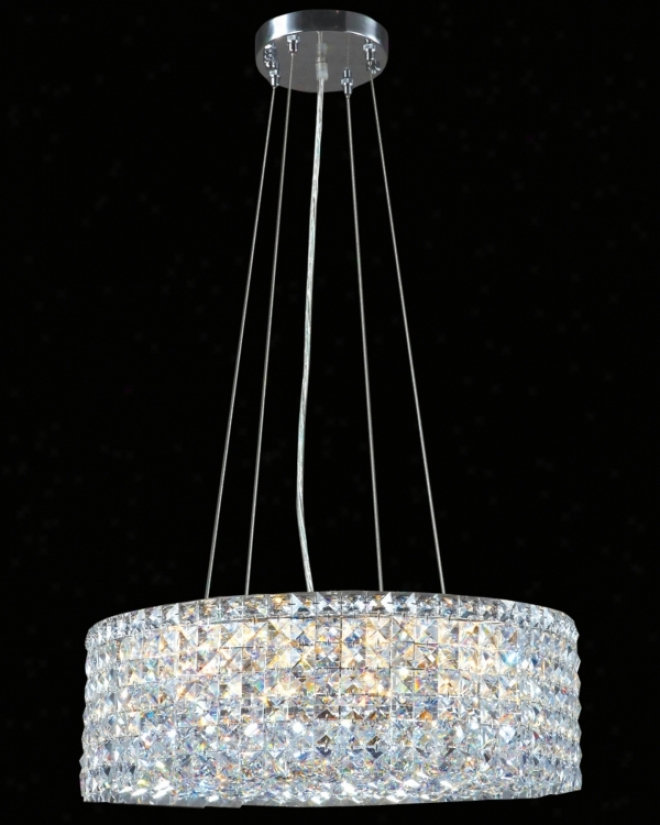 "James R. Moder Imperial Crystal 20"" Round Pendant Chandelier (r6385)"