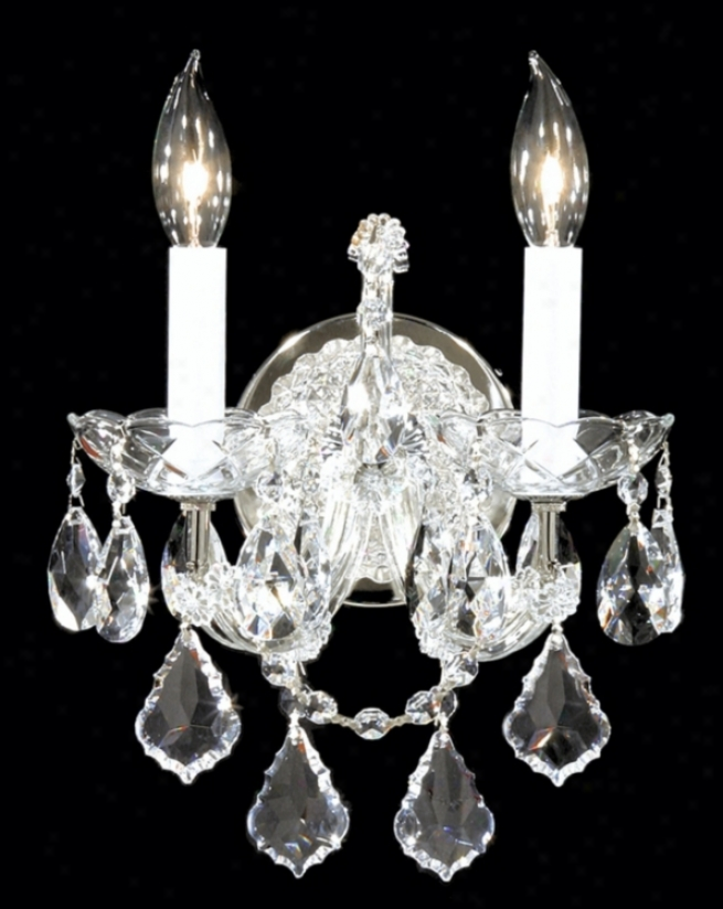 James R. Moder Maria Teresa Silver Wall Sconce (41657)