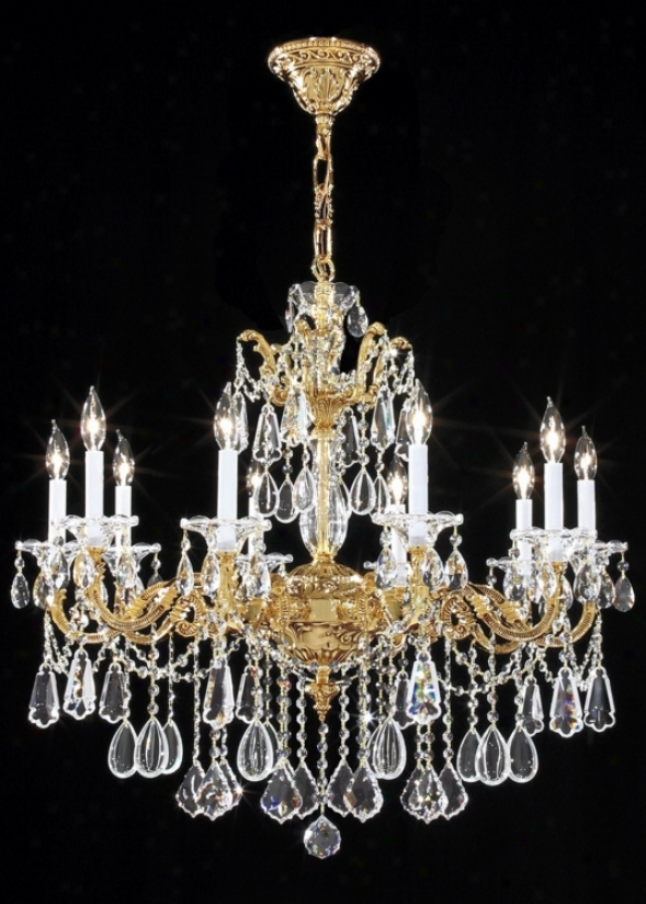 James R Moder Redding Gold 10-light Large Crystal Chandelier (13967)