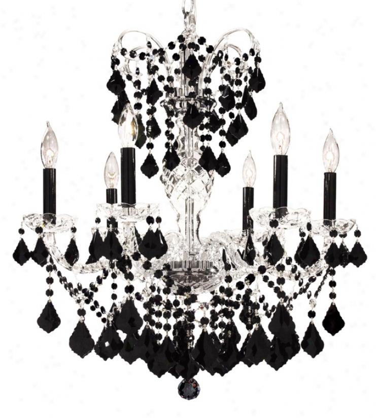 James R. Moder Vienna Collection Black Crystal Chandelier (03082)