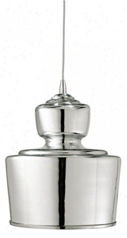 "Jamie Young Lafitte Messenger Glass 10"" Wide Pendant Light (m9534)"