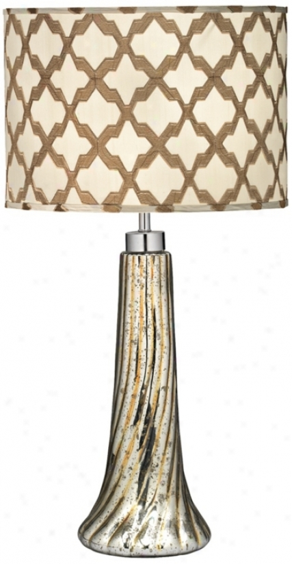 Jamie Young Lattice And Spiral Glass Table Lamp (w5117)