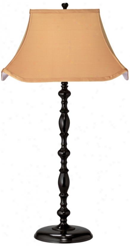 Jamie Young Marrakesh Silk And Cast Metal Black Table Lamp (w5414)